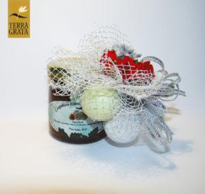 Bomboniere e segnaposto Confetture / marmellate artigianali e naturali Terra Grata. Matrimonio, Battesimo, Laurea, Comunione, Cresima, Anniversari.