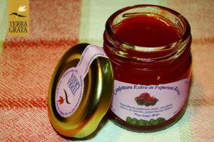 Confettura / Marmellata artigianale di Peperoni rossi Terra Grata. Abbinamento piatti di carne. Gusti originali.