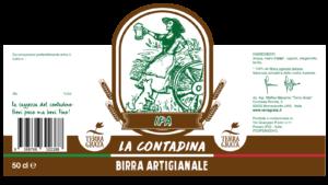 Birra artigianale Terra Grata, Birra La Contadina, Birra filiera agricola, birra agricola, IPA, COBI Consorzio Italiano dell'Orzo e della Birra, codice barre 8388766302388, bergamotto